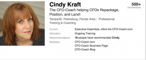 Cindy Kraft, the CFO-Coach
